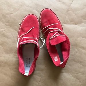 Red Barney's suede boots